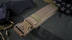 "Nylon Tactical Operator Duty Belt 2.0"" Super Duty Web Belt - Thick Single Layer Reinforced - Quick Clasp Buckle - For Concealed Carry EDC Holsters Pouches Security Military Wilderness"