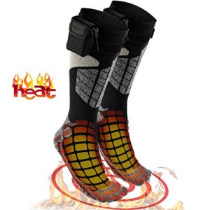 Heated Electric Warm Thermal Socks – Battery Operated Winter Foot Warmers For Adults Men & Women, Warming Socks Get Toes Warm In Cold Weather Outdoors Or Indoors - Patterns and Colors Will Vary