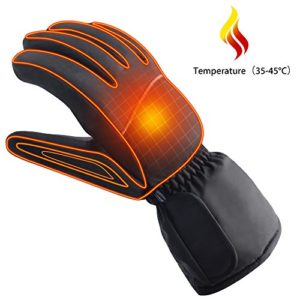 Autocastle Rechargeable Electric Battery Heated Gloves for Men and Women,Outdoor Indoor battery Powered Hand Warmer Glove Liners for Climbing Hiking Cycling,Winter Must Have Thermal Heated Gloves