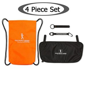 Piggyback Rider ACCESSORY PACK #3 (Orange) Carry Bag, Water Bottle Holder, Mud Flap, Selfie Stick Holder