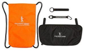 Piggyback Rider ACCESSORY PACK #3 (Orange) Carry Bag, Water Bottle Holder, Mud Flap, Selfie Stick Holder