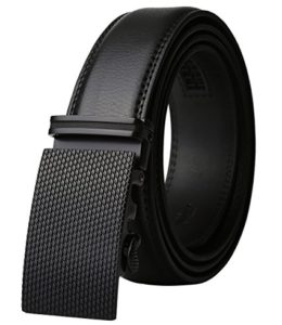 Dante Men's Leather Ratchet Dress Belt with Automatic Buckle