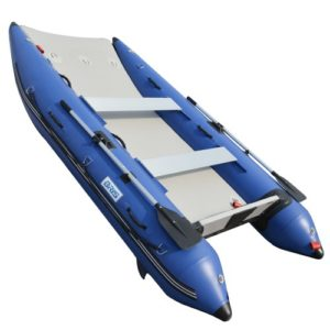 BRIS 11 ft Inflatable Catamaran Inflatable Boat Inflatable Dinghy Mini Cat Boat Blue