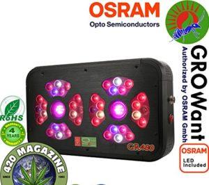 LED Grow Lights for Marijuana | 480 watts OSRAM Horticulture LEDs