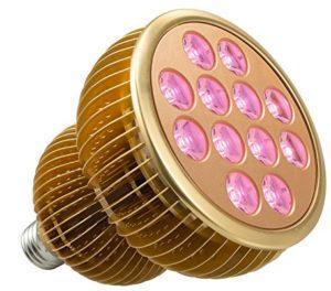 LED Grow Light Bulb, TaoTronics Full Spectrum Grow Lights for Indoor Plants, Grow Lamp, Plant Lights for Hydroponics, Organic Soil ( 36W, All Wavelengths, FREE E26 Socket)