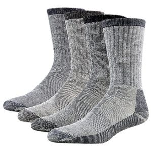 Merino Wool Hiking Socks, RTZAT Unisex Winter Thermal Camping, 1/2/4 Pairs