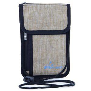 RFID Blocking Passport Holder Premium Multi-function Travel Pouch