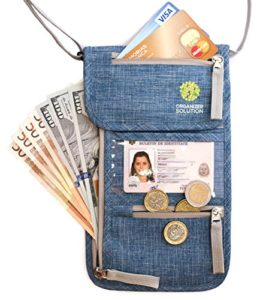 Travel Neck Pouch with RFID, Passport Holder, Travel Wallet That Keeps You Safe, For Men And Women